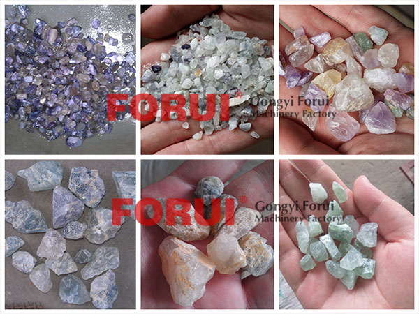 Result of Fluorspar Fluorite Washing Plant in North Korea