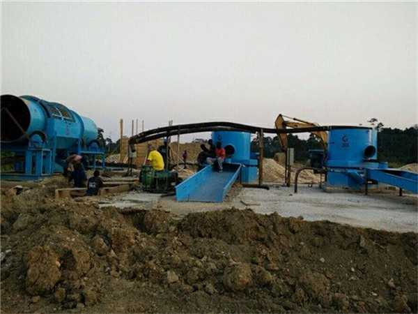 Placer gold concentrator in Africa.
