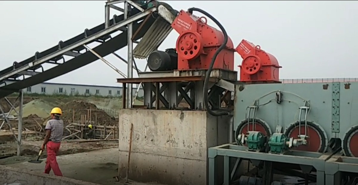 hammer crusher worksite