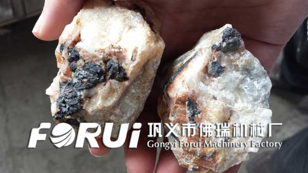 Coarse-grained inlaid wolframite ore