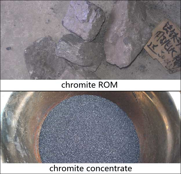 Concentrate Obtained from Chromite Beneficiation