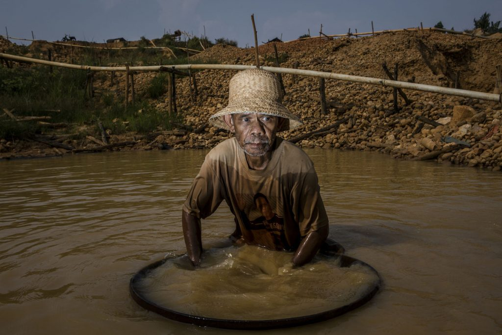 Syarani, a 54-year-old driller, has been involved in mining for 30 years.