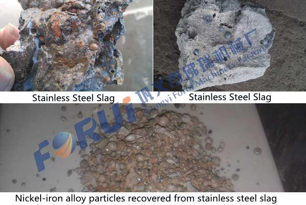 The effect of recovering nickel-iron alloy from stainless steel slag